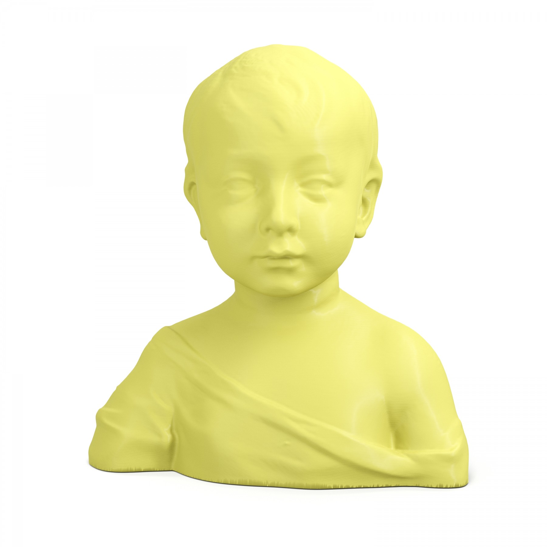 3D Printed Bust of a Child Busts Art Clone Statue - ARTFICIAL.COM