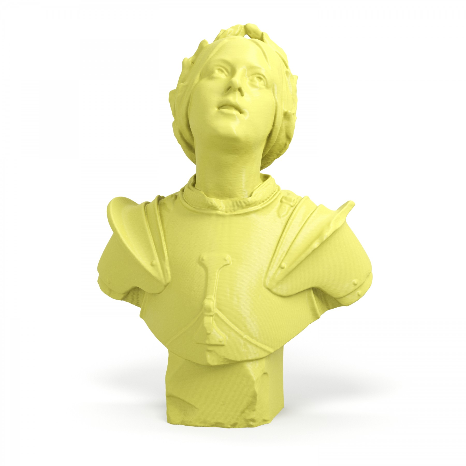 3D Printed Joan of Arc Busts Art Clone Statue - ARTFICIAL.COM